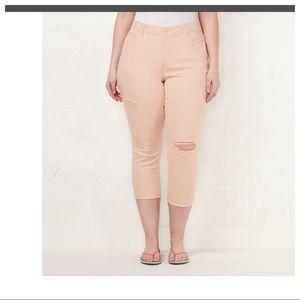 Woman's Plus Skinny Capri Jeans NWT